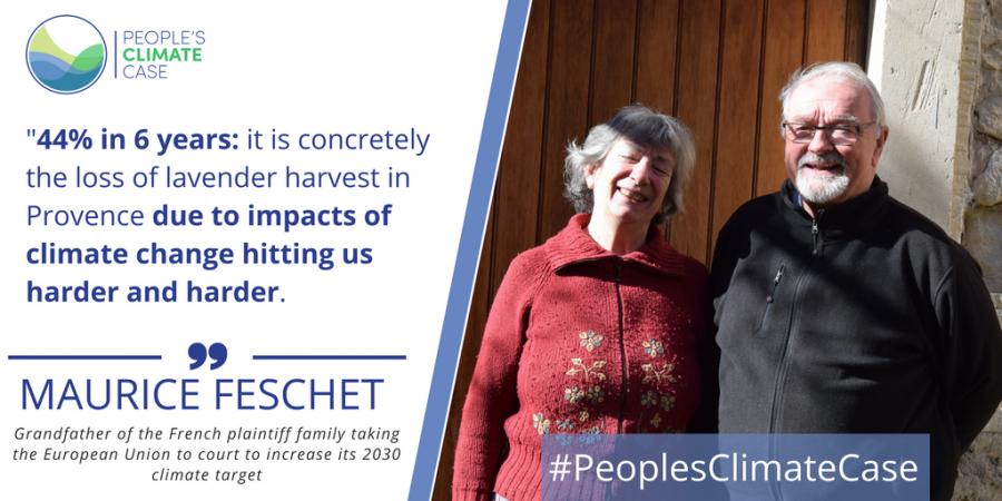 Les Feschet, membres français du « People's Climate Case » | Crédit Photo : People's Climate Case